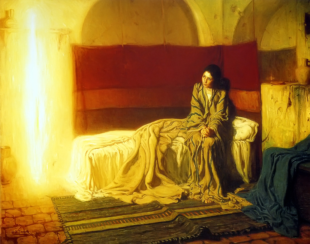 "Henry Ossawa Tanner - The Annunciation"" by Henry Ossawa Tanner - http://freechristimages.org/biblestories/annunciation.htm. Licensed under Public Domain via Wikimedia Commons - http://commons.wikimedia.org/wiki/File:Henry_Ossawa_Tanner_-_The_Annunciation.jpg#/media/File:Henry_Ossawa_Tanner-The Annunciation"